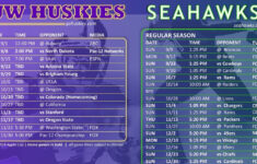 Seahawks And Husky Football Schedules