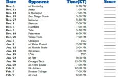 Search Results For Duke Basketball Schedule Printable