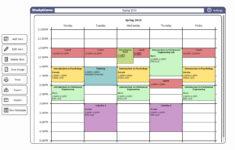 Simple Class Schedule Template Cards Design Templates