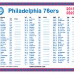 Sixers Printable Schedule 2019 20 Lex Kline Has Had A