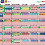 Slim In 6 Printable Calendar Calendar Printables Free