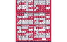 St Louis Cardinals Baseball Team Schedule Magnets 4 X 7