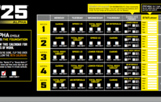 T25 Schedule Printable That Are Revered Mason Website