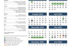 Texas A M Calendar 2020 Free Printable Calendar