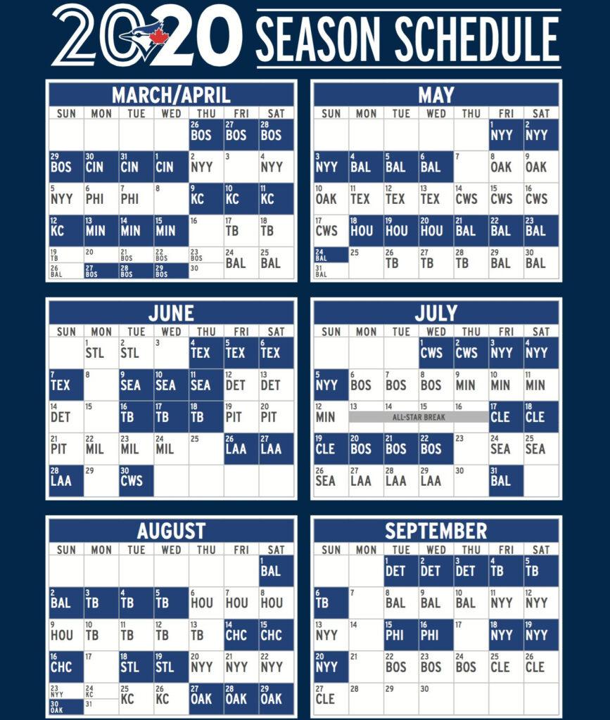 The Best Yankees Schedule 2020 Printable Russell Website