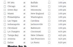 Top Nfl Week 17 Schedule Printable Collins Blog