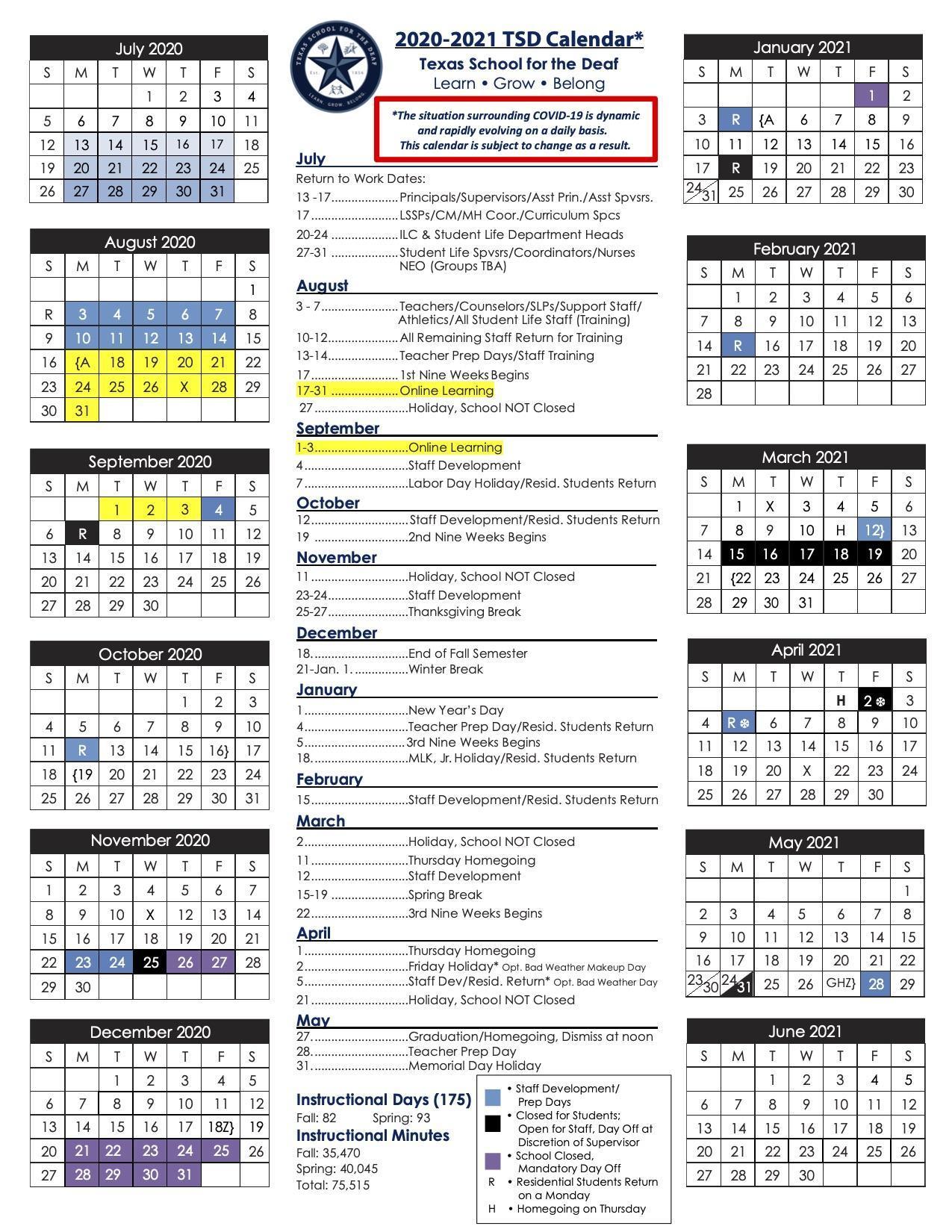 Tsd Calendar 2021 Calendar 2021