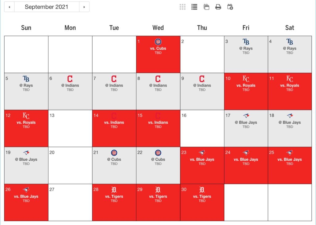 Twins 2021 Schedule Will Make 2nd Straight World Series