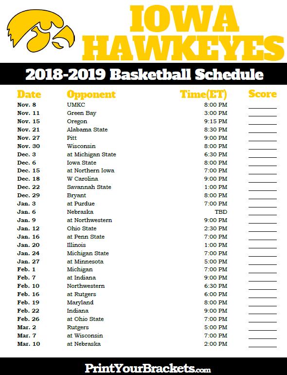 Uk Basketball Schedule 2020 Printable