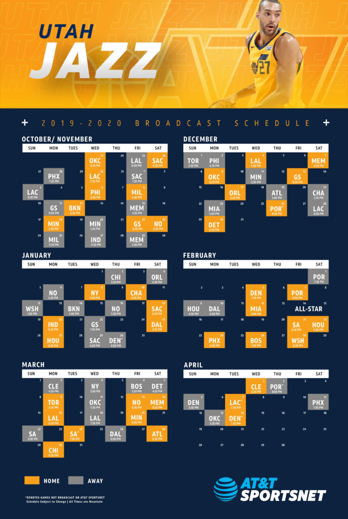 Utah Jazz Schedule Printable That Are Hilaire Tristan