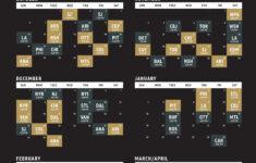 Golden Knights Schedule Printable