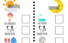 Visual Daily Schedule Free Printable With Images Kids