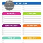 Weekly Cleaning Schedule Printable Weekly Cleaning