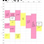 Weekly Schedule PRINTABLE Weekly Timetable A4 Weekly