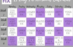 Workout Calendar 21 Day Fix Workouts 21 Day Fix