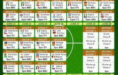 World Cup 2014 TV Schedule Just Print It Out Check