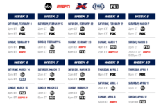 XFL 2020 Television Schedule Review