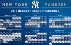 Yankees Printable Schedule New York Yankees Yankees