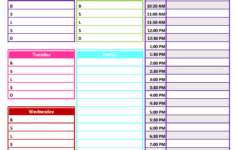 1 2 3 Neat Tidy Daily Schedule Free Printable Daily