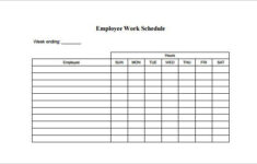 14 Employee Schedule Template Free Word Excel PDF