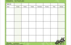 14 Family Schedule Templates Word PDF Free Premium