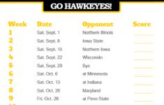 2018 Printable Iowa Hawkeyes Football Schedule Iowa Hawkeyes