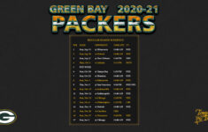 2020 2021 Green Bay Packers Wallpaper Schedule