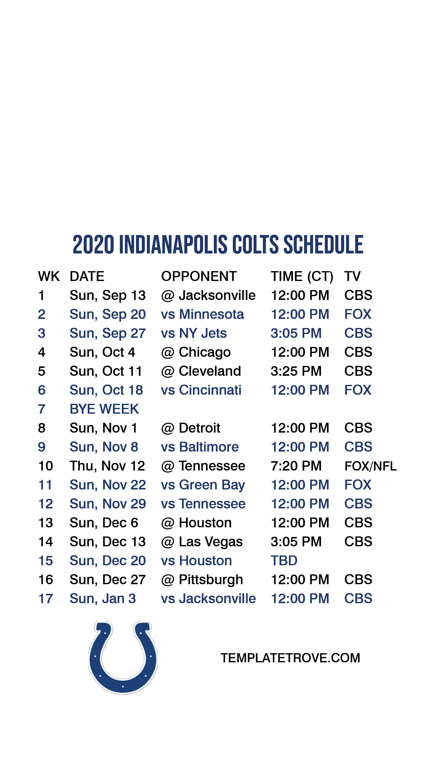 2020 2021 Indianapolis Colts Lock Screen Schedule For
