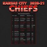 2020 2021 Kansas City Chiefs Wallpaper Schedule