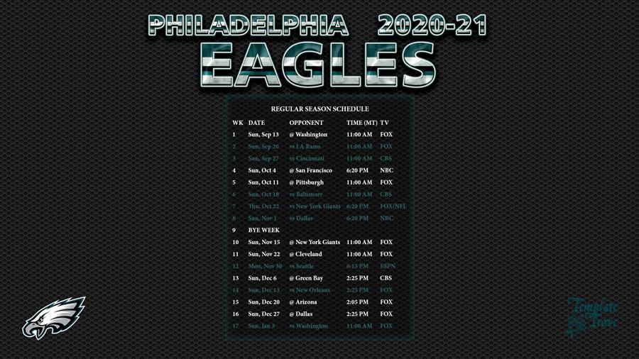 2020 2021 Philadelphia Eagles Wallpaper Schedule