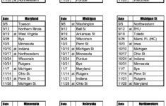2020 Big Ten Football Schedules Phil Steele