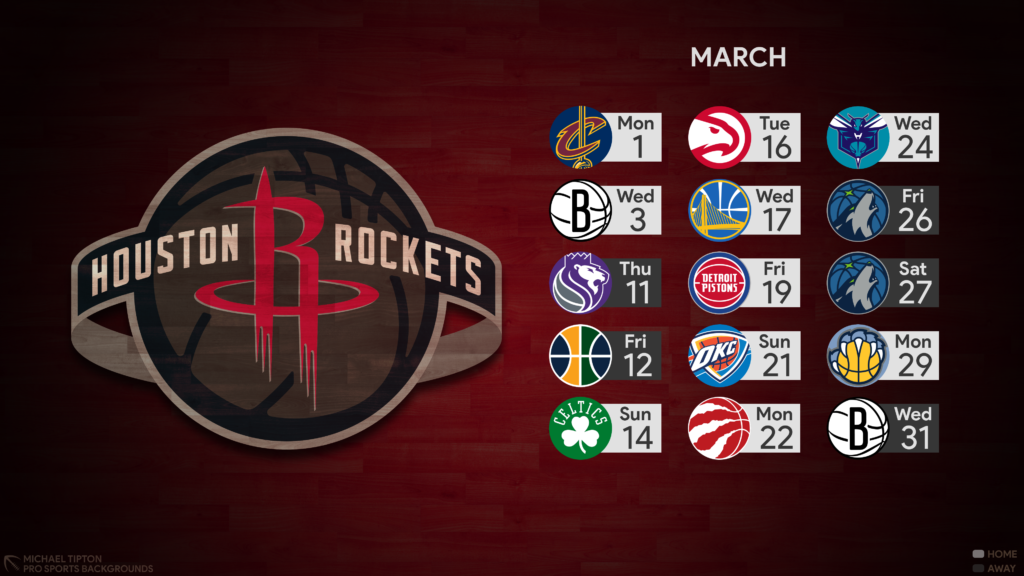 2021 Houston Rockets Wallpapers Pro Sports Backgrounds