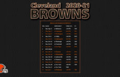 Cleveland Browns Printable Schedule 2021