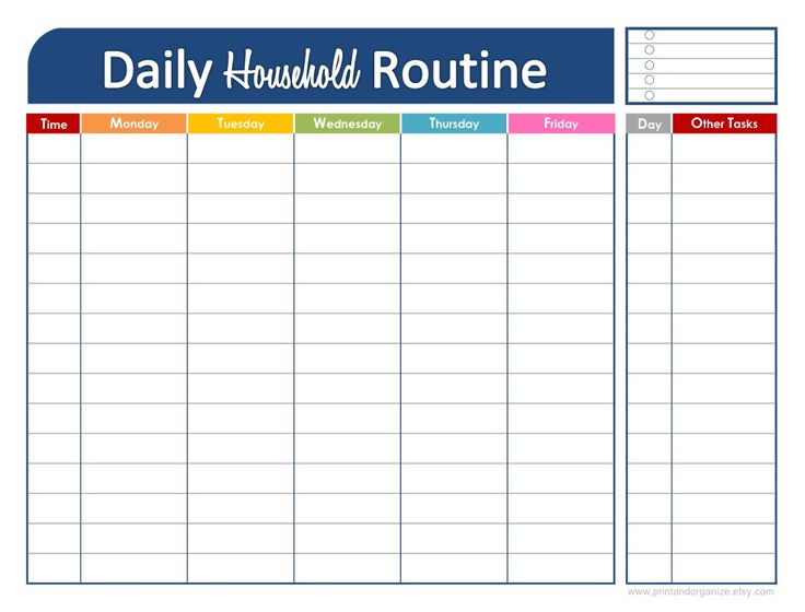 46 Of The Best Printable Daily Planner Templates