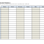5 Best Images Of Printable Blank Class Schedule Weekly