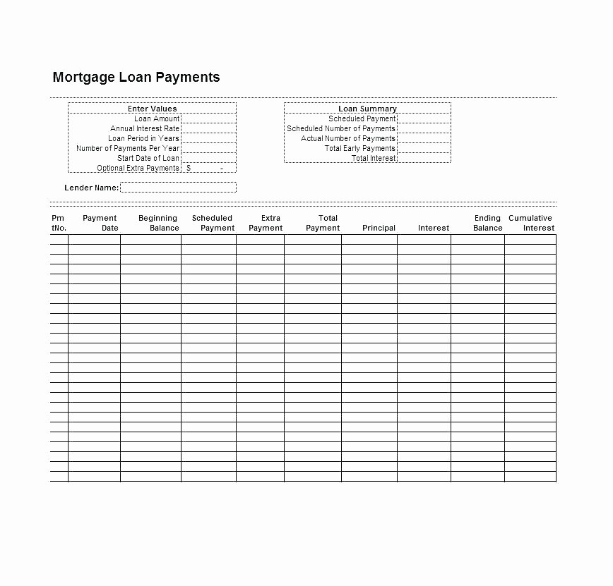 50 Amortization Chart With Extra Payments Ufreeonline