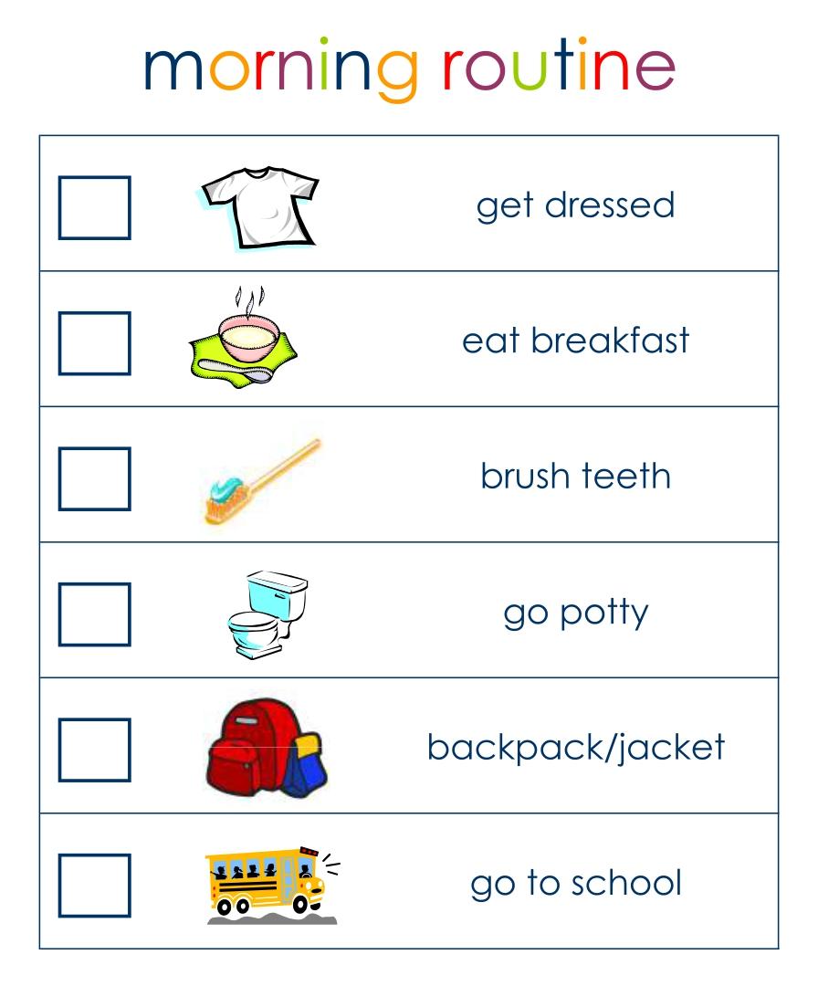 6 Best Printable Preschool Visual Daily Schedule