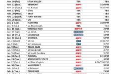 Uk Basketball Schedule Printable