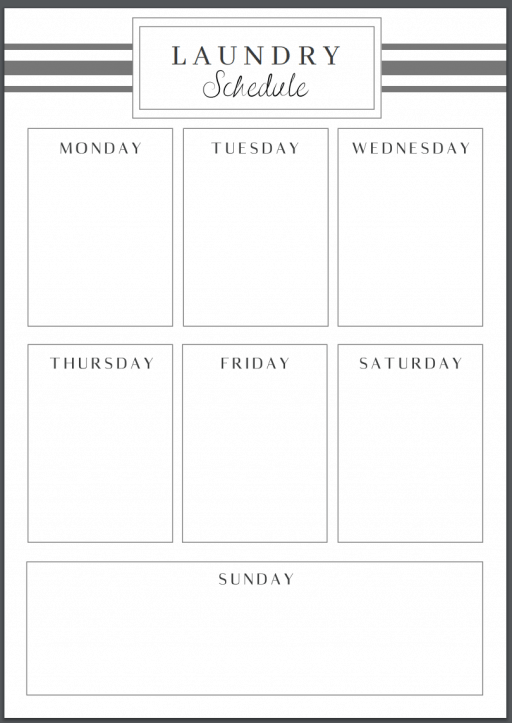 A Simple Laundry Schedule That Actually Works A Free