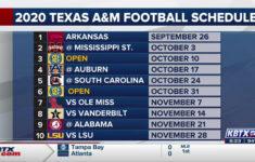 Texas A&m Football Schedule 2021 Printable