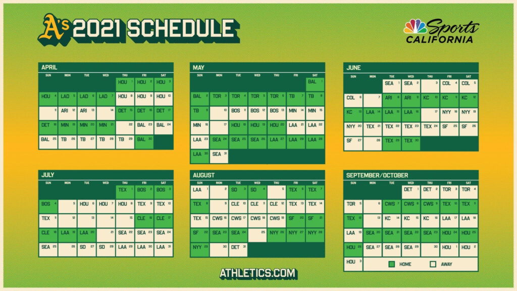Athletics Will Begin End 2021 With Series Against The Astros
