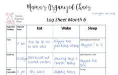 Babywise Schedule Newborn 3 4 Months Mama S Organized Chaos