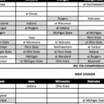 Big Ten Unveils Football Schedules For 2020 2021 Seasons