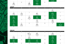 Boston Celtics Printable Schedule
