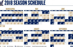 Brewers Release 2018 Schedule With Times