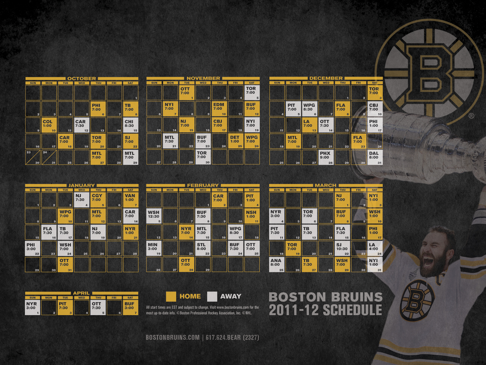 Bruins Schedule Printable That Are Playful Clifton Blog