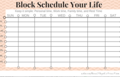Build The Life You Want To Build With A Block Schedule