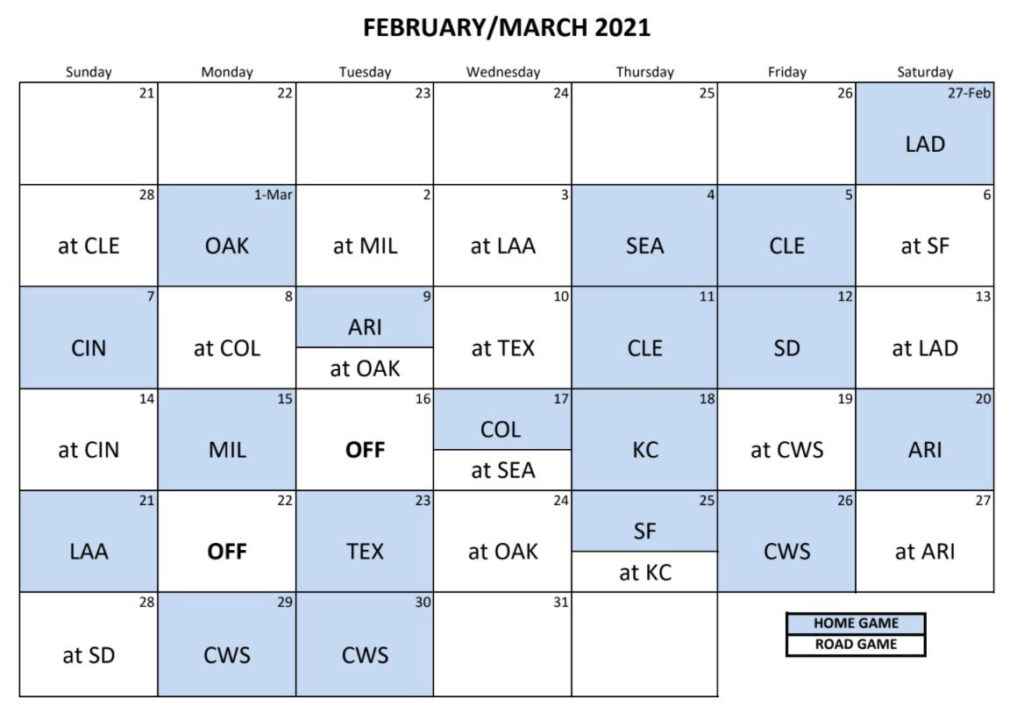 Chicago Cubs Announce 2021 Spring Training Schedule