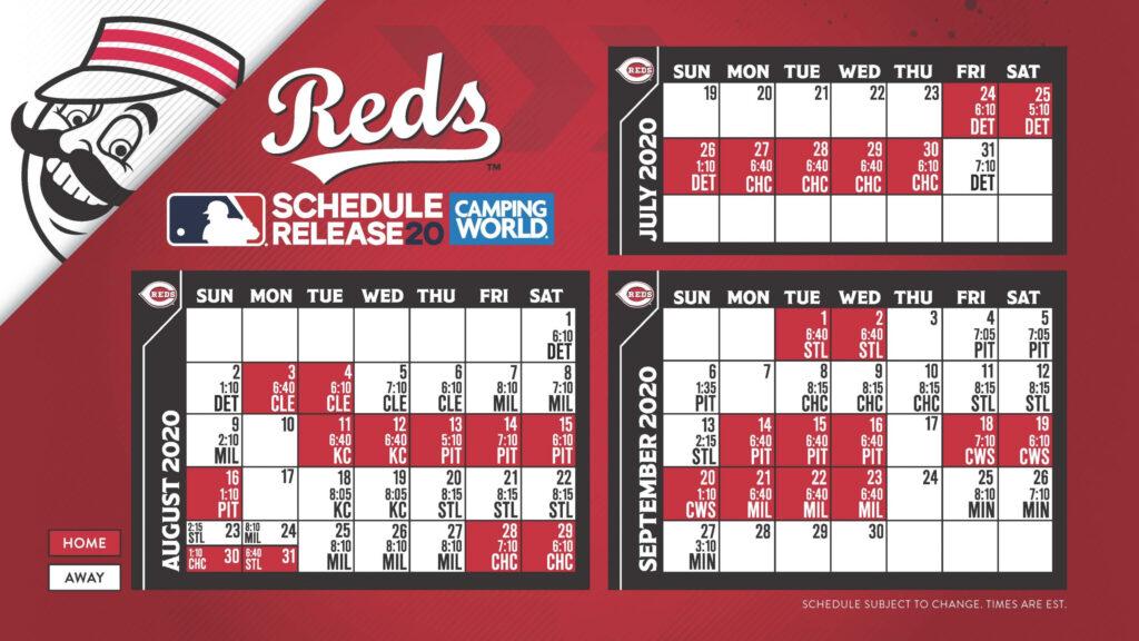 Cincinnati Reds 2020 Schedule Update WRBI Radio