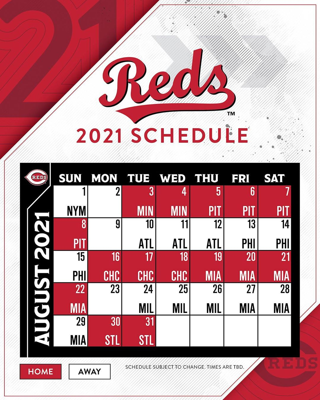 Cincinnati Reds The 2021 Reds Schedule Is Here Raw